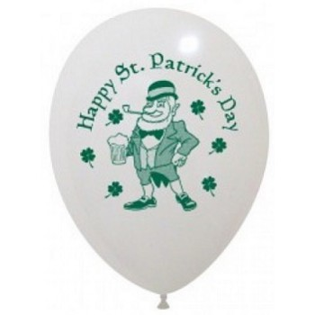 Palloncino in Lattice Rotondo 30 cm. Stampa ST. Patricks Day