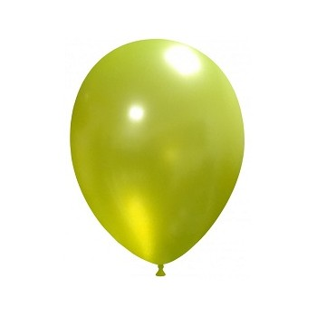 Palloncino in Lattice Rotondo 30 cm. Verde Lime Metallizzato
