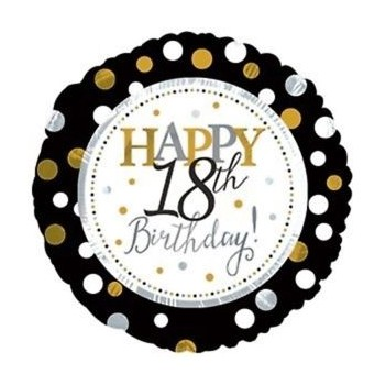 Palloncino Mylar 45 cm. 18° Age Happy Birthday