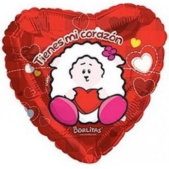 Palloncino Mylar 45 cm. Age 4° Birthday Girl