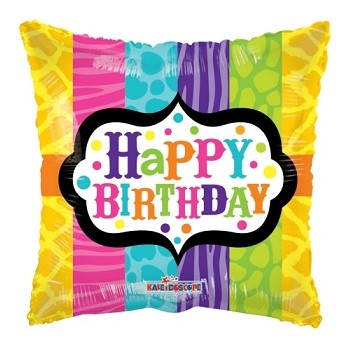 Palloncino Mylar 45 cm. Animal Print Birthday