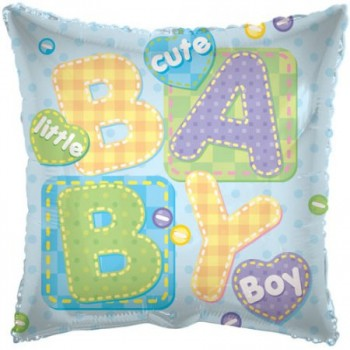 Palloncino Mylar 45 cm. Baby Boy Big Letters
