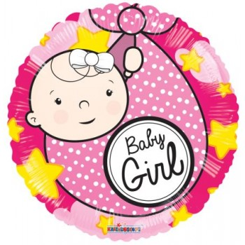 Palloncino Mylar 45 cm. Baby Girl Born