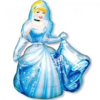 Palloncino Mylar 45 cm. Baby Girl Footprints