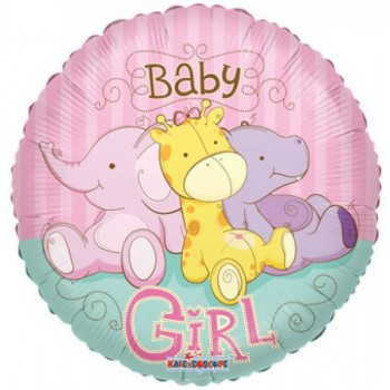 Palloncino Mylar 45 cm. Baby Girl Jungle