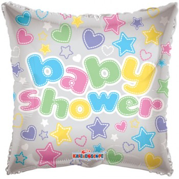 Palloncino Mylar 45 cm. Baby Shower Clearview