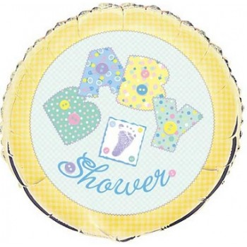 Palloncino Mylar 45 cm. Baby Yellow Stitching Baby Shower