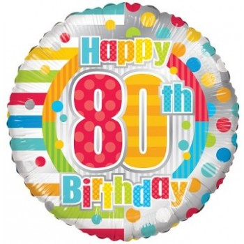 Palloncino Mylar 45 cm. Birthday Dots & Lines