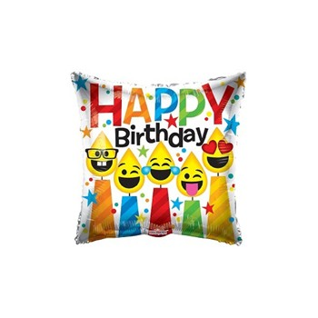 Palloncino Mylar 45 cm. Birthday Smiling Candles