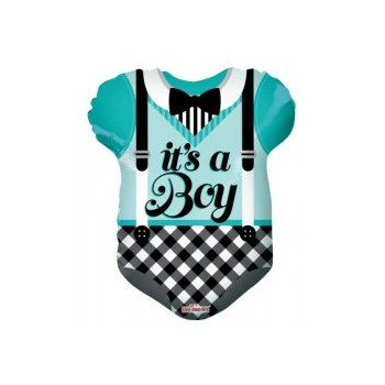 Palloncino Mylar 45 cm. Blue Baby Clothes Shape