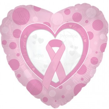 Palloncino Mylar 45 cm. Breast Cancer Promise - Hope - Cure
