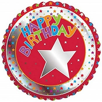 Palloncino Mylar 45 cm. Children's Milestone Happy Birthday