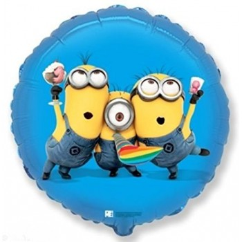 Palloncino Mylar 45 cm. Despicable Me Minions Party Blue