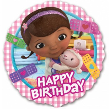 Palloncino Mylar 45 cm. Doc McStuffins Happy Birthday