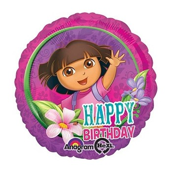 Palloncino Mylar 45 cm. Dora Happy Birthday