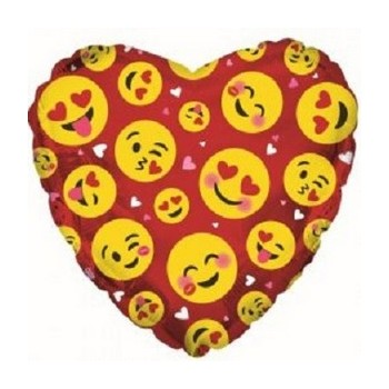 Palloncino Mylar 45 cm. Emoji Red
