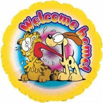 Palloncino Mylar 45 cm. Garfield Welcome Home