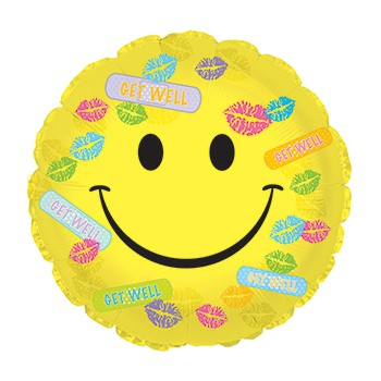 Palloncino Mylar 45 cm. Get Well Bandaids & Kisses