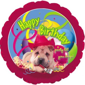 Palloncino Mylar 45 cm. Happy Birthday Doggy