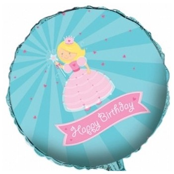 Palloncino Mylar 45 cm. Happy Birthday Princess