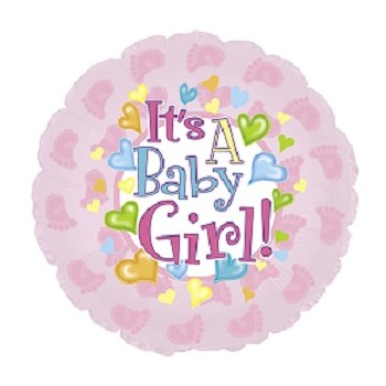 Palloncino Mylar 45 cm. It's a Baby Girl Feet