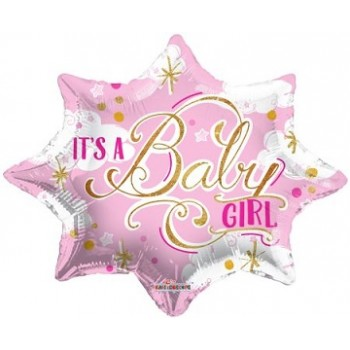 Palloncino Mylar 45 cm. It's a Baby Girl Shape