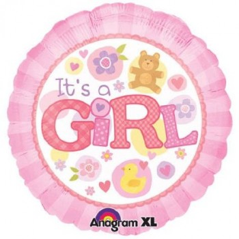 Palloncino Mylar 45 cm. It's a Girl Pink