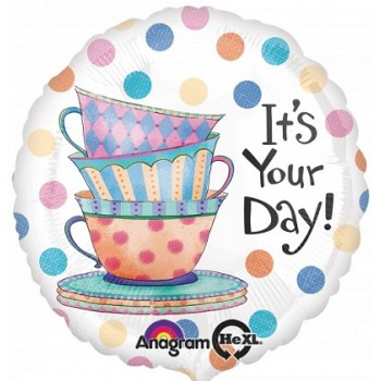 Palloncino Mylar 45 cm. It's Your Day Teacups