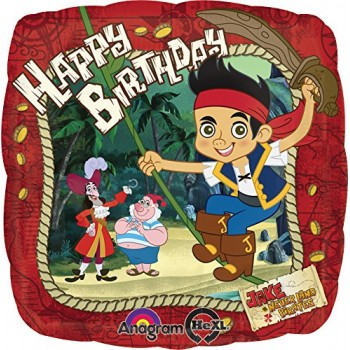 Palloncino Mylar 45 cm. Jake And The Never Land Pirates Birthday
