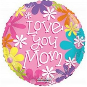 Palloncino Mylar 45 cm. Love You Mom