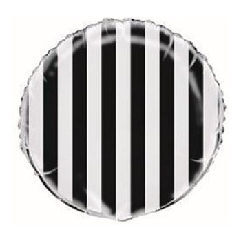 Palloncino Mylar 45 cm. Lovely Black Polka Dots