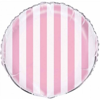 Palloncino Mylar 45 cm. Lovely Pink Stripe