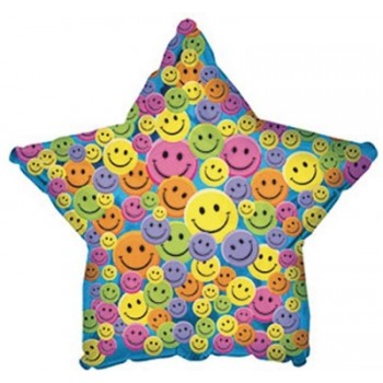 Palloncino Mylar 45 cm. Many Smiley Faces