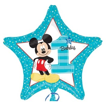 Palloncino Mylar 45 cm. Mickey Mouse 1° Birthday