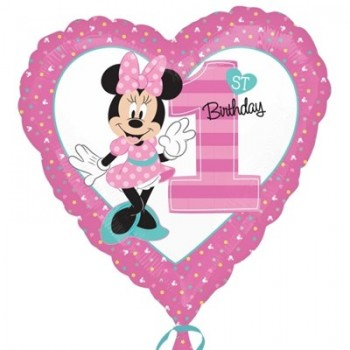 Palloncino Mylar 45 cm. Minnie 1° Birthday
