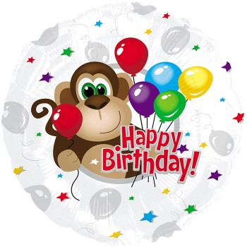 Palloncino Mylar 45 cm. Monkey Around Birthday