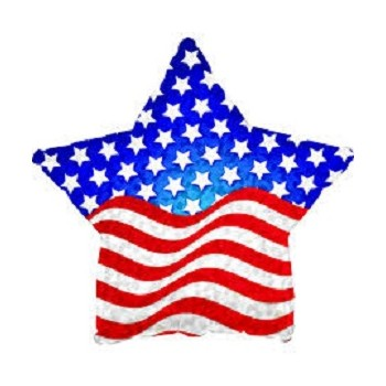 Palloncino Mylar 45 cm. Patriotic Prism Star