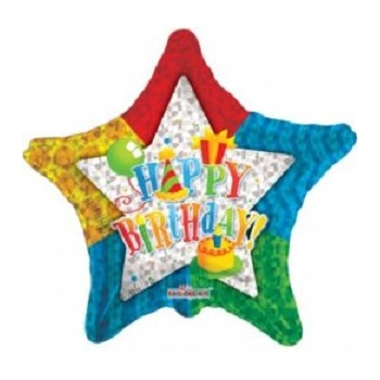 Palloncino Mylar 45 cm. Patterned Star