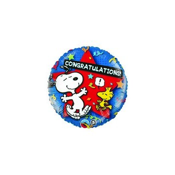 Palloncino Mylar 45 cm. Peanuts Congratulations Star