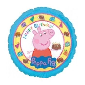 Palloncino Mylar 45 cm. Peppa Pig Happy Birthday