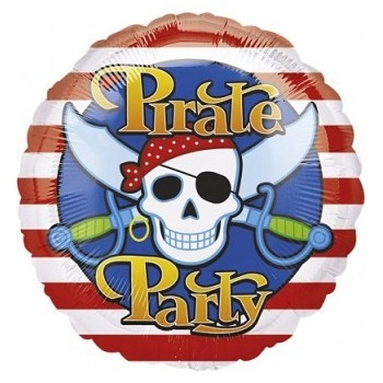 Palloncino Mylar 45 cm. Pirate Party