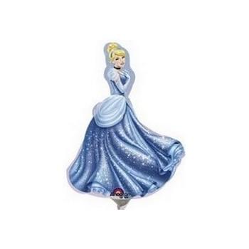 Palloncino Mylar 45 cm. Power Blue Sparkle Star Foil
