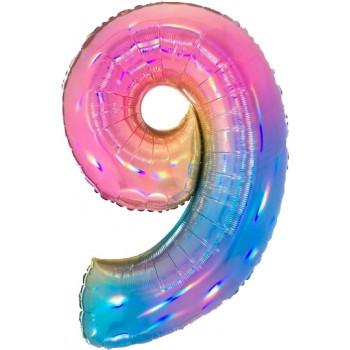 Palloncino Mylar 45 cm. Smiley Face Baby Boy Pacifier