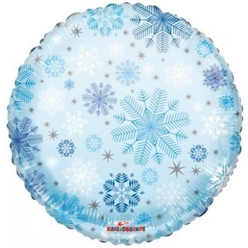 Palloncino Mylar 45 cm. Snowflakes Pattern Clearview