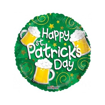 Palloncino Mylar 45 cm. St. Patrick's Day Beer
