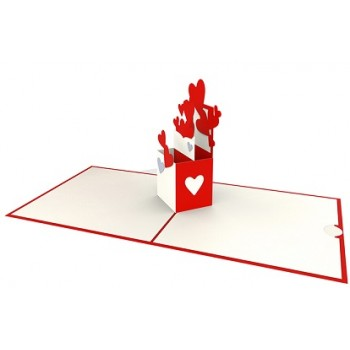 Cartolina Auguri Origami Amore Sorpresa