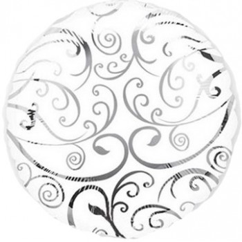 Palloncino Mylar Lettera Z Media - 41 cm. Argento