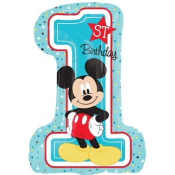 Palloncino Mylar Super Shape 71 cm. Mickey 1° Birthday