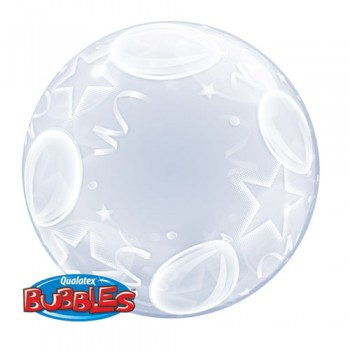 Palloncino Bubble Balloons And Stars 61 cm.