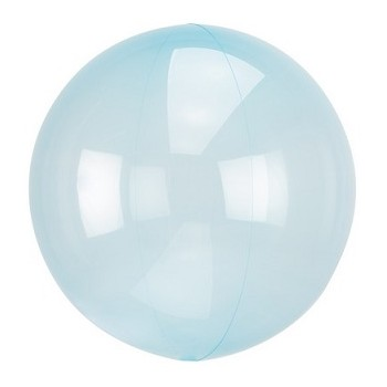 Palloncino Crystal Clears Azzurro - 45 cm.